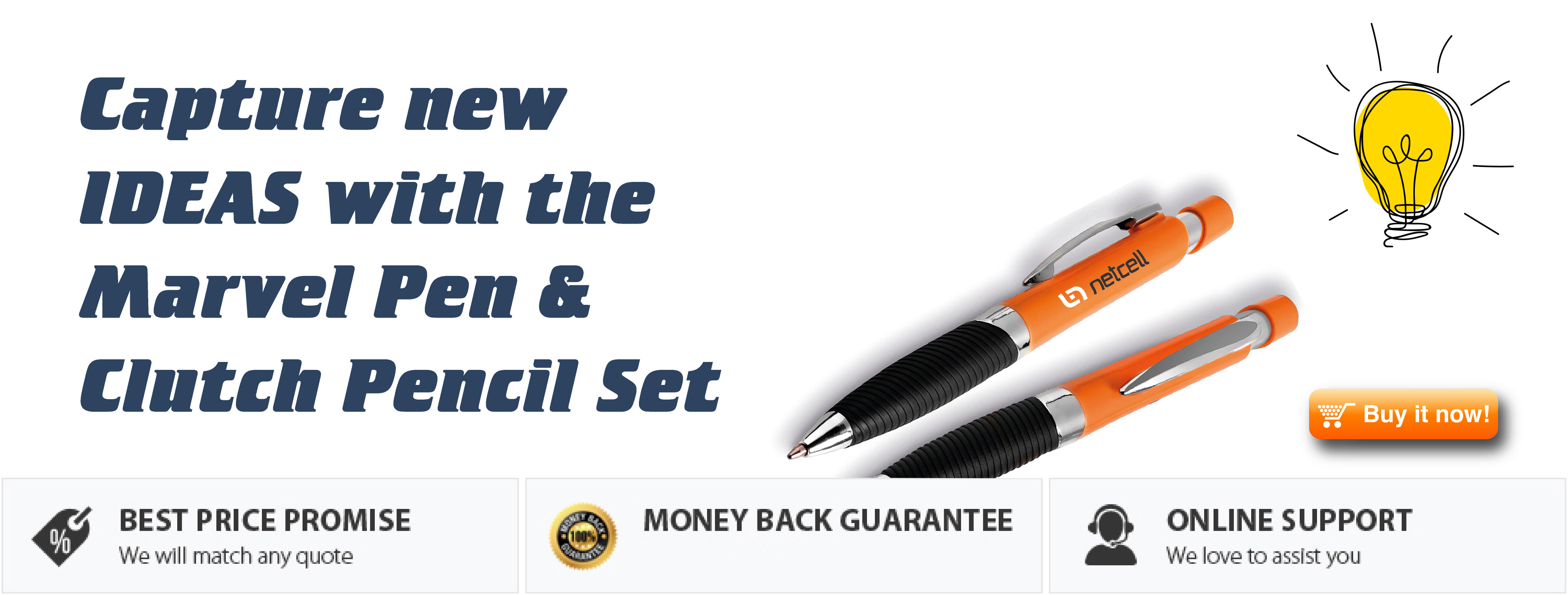 Click Here for the Marvel Ball Pen & Clutch Pencil Set