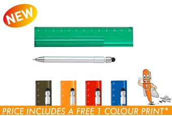 Translucent Ruler with Stylus Pen
