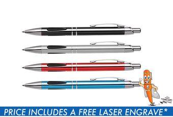 Metal Ergonomic Grip Ballpoint Pen